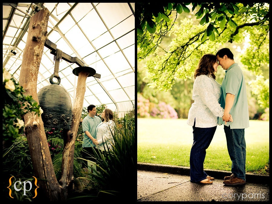 engagement portraits at the volunteer park conservatory