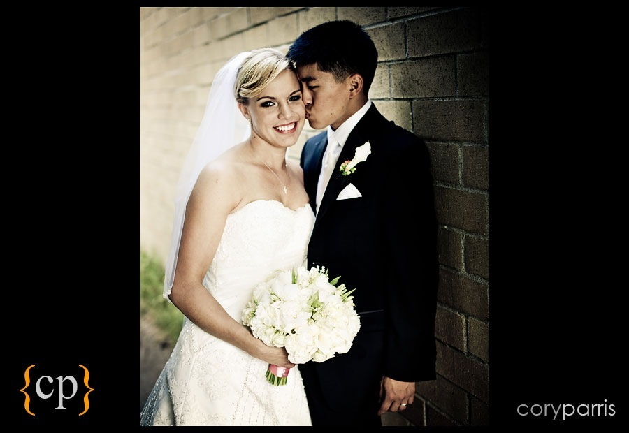 bride and groom together by seattle wedding photographer cory parris