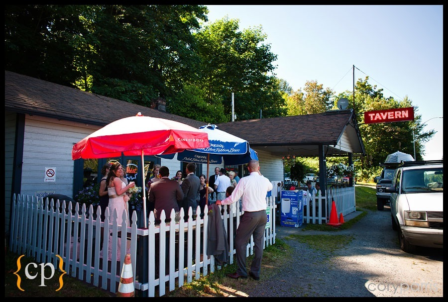 wedding party at a tavern in woodinville