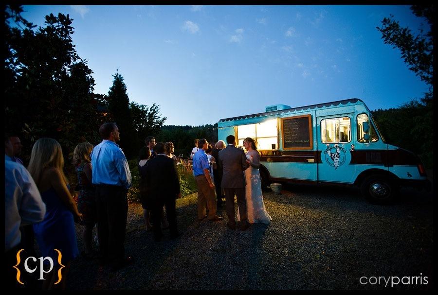 molly moon ice cream at a wedding