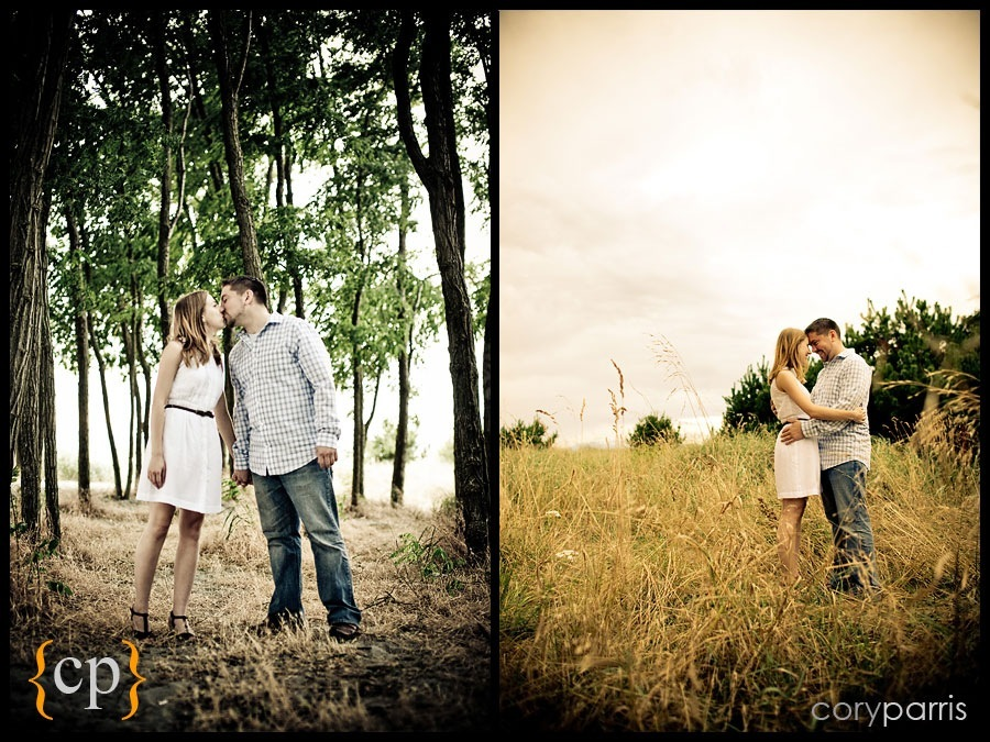 engagement portraits at golden gardens in seattle by wedding photographer cory parris
