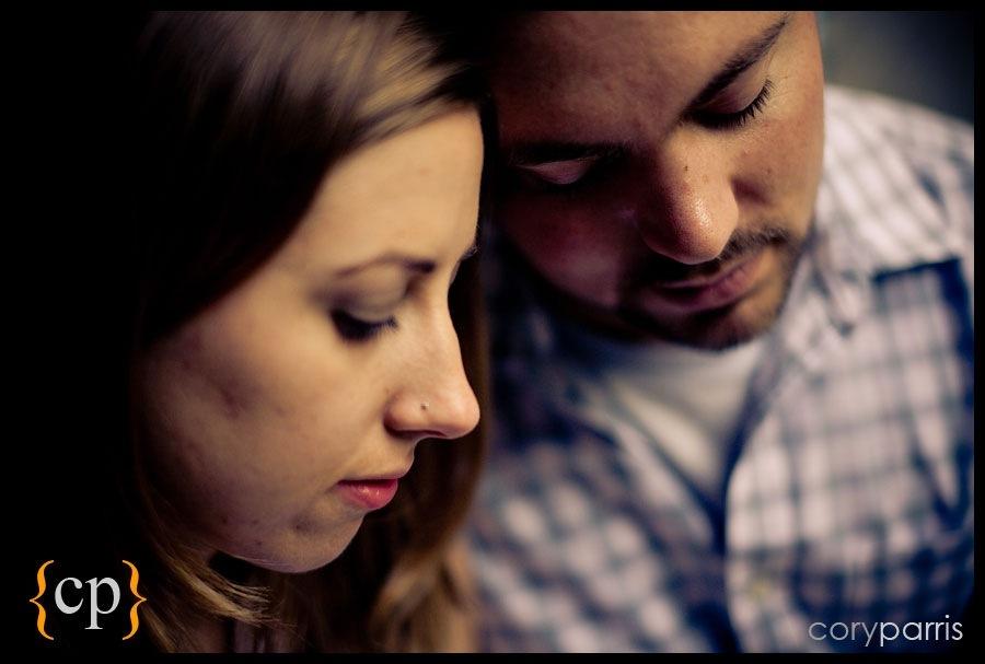 couple portrait with bokeh by seattle portrait photographer cory parris
