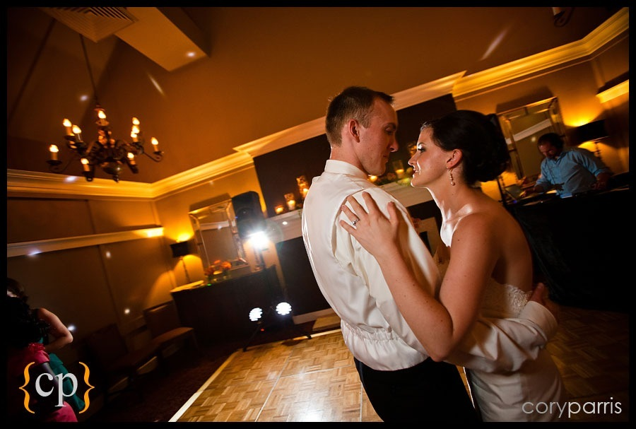 bride and groom dancing at sand point country club in seattle