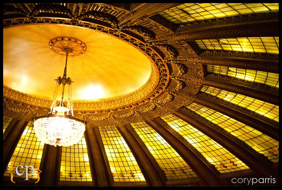 The beautiful arched ceiling at the Arctic Club in Seattle