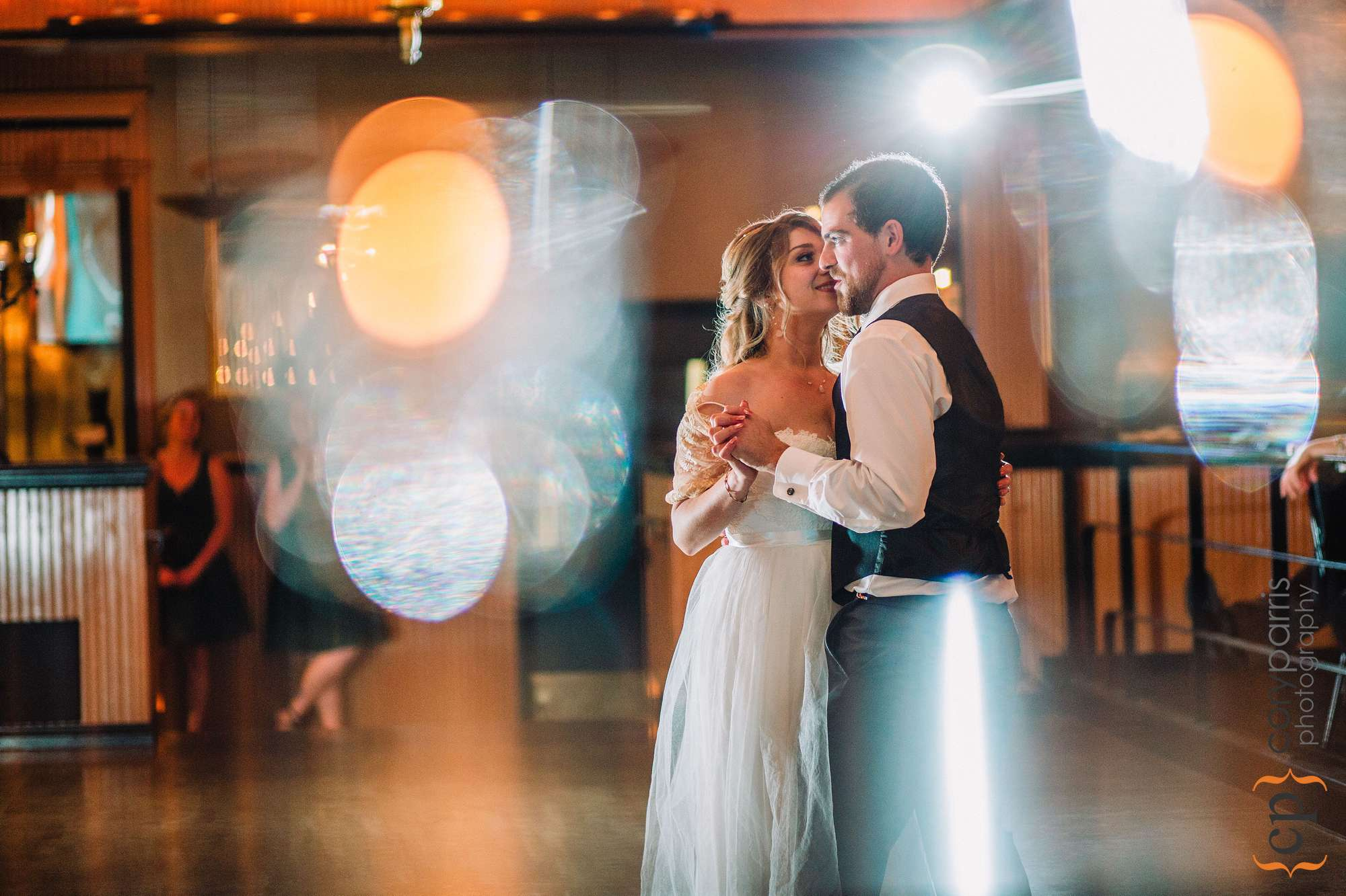 Catie & Jared's first dance at the Lake Union Cafe.