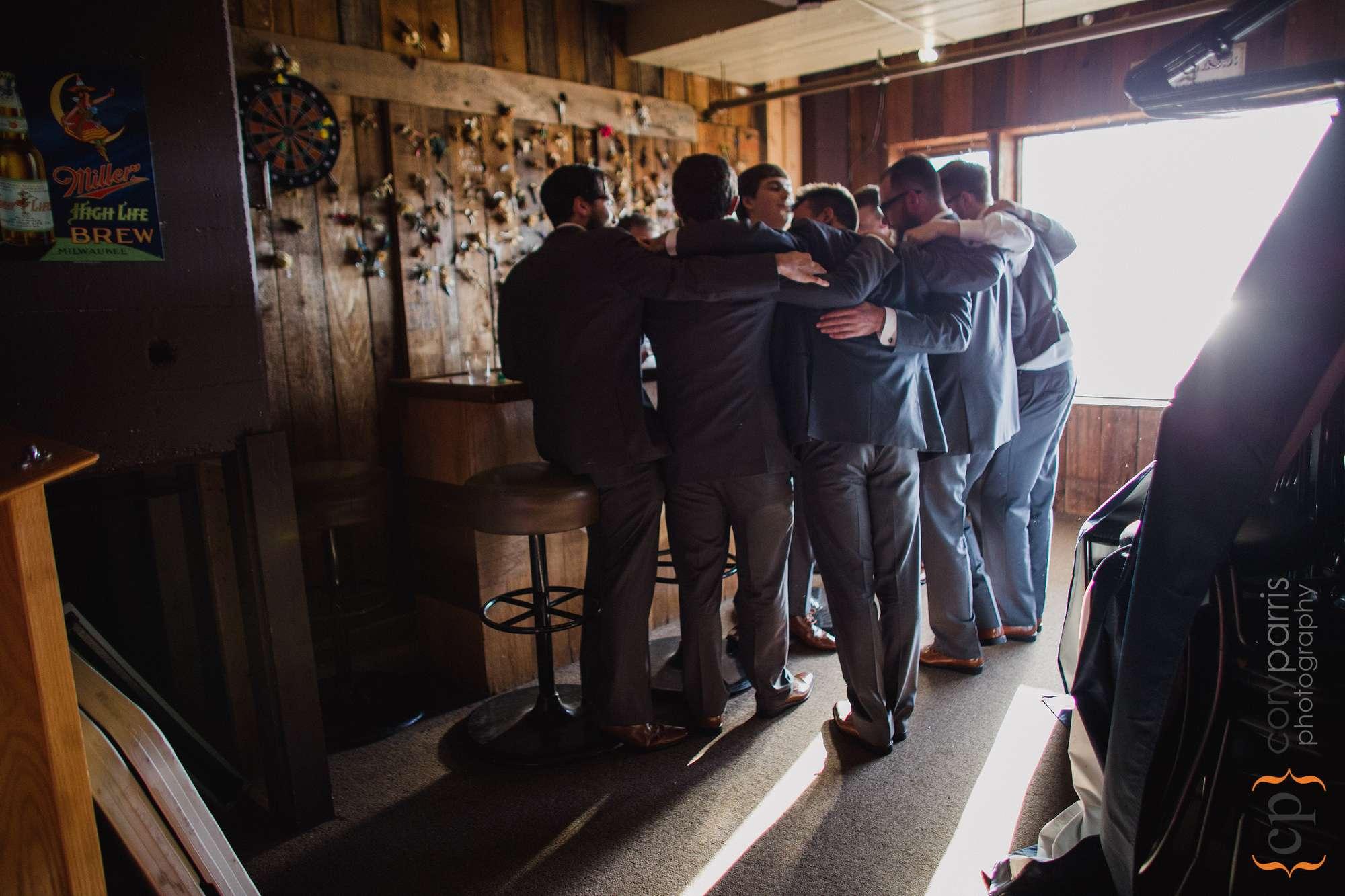 groomsmen at lake union cafe