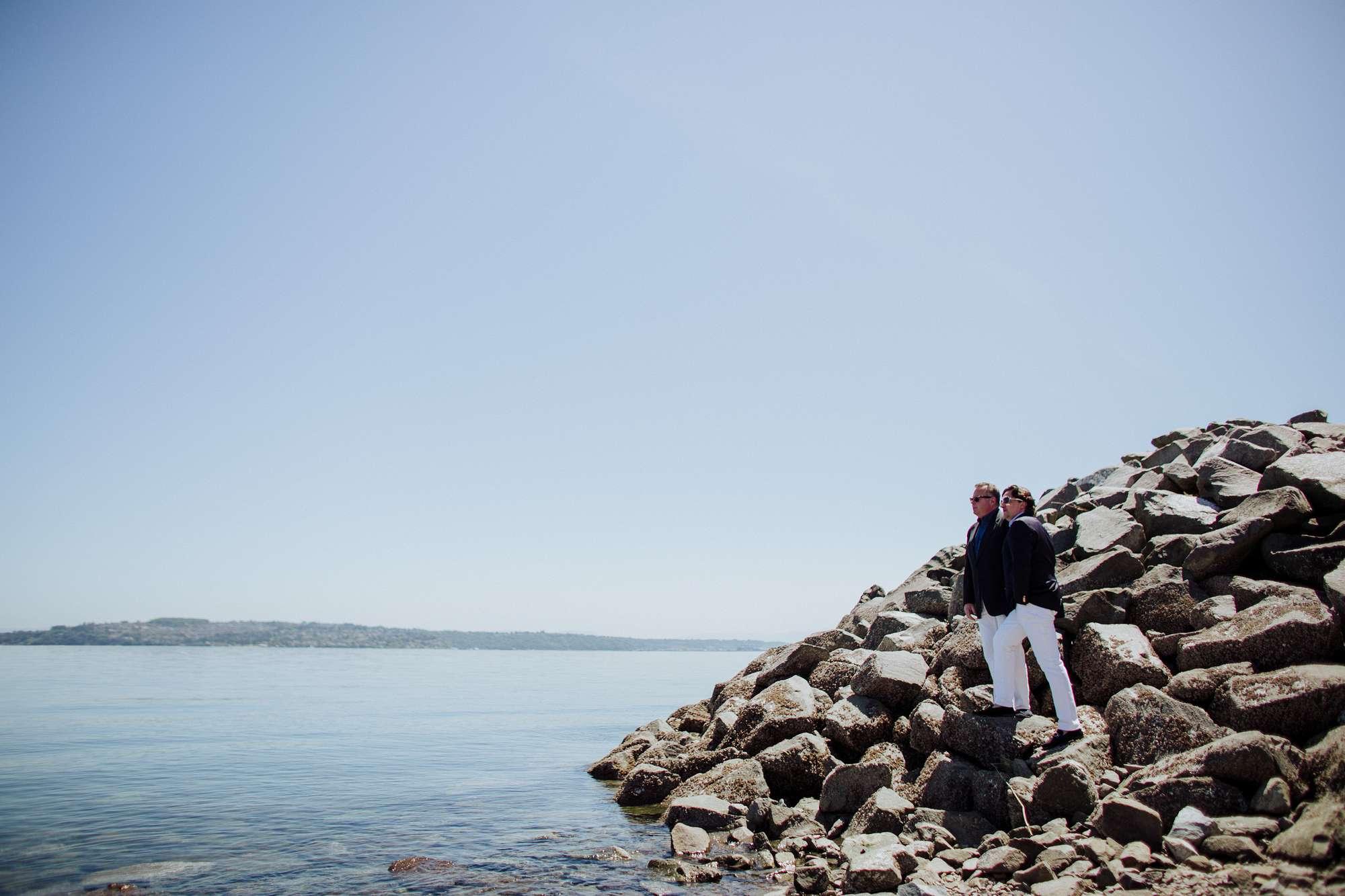 waterfront tacoma engagement portrait