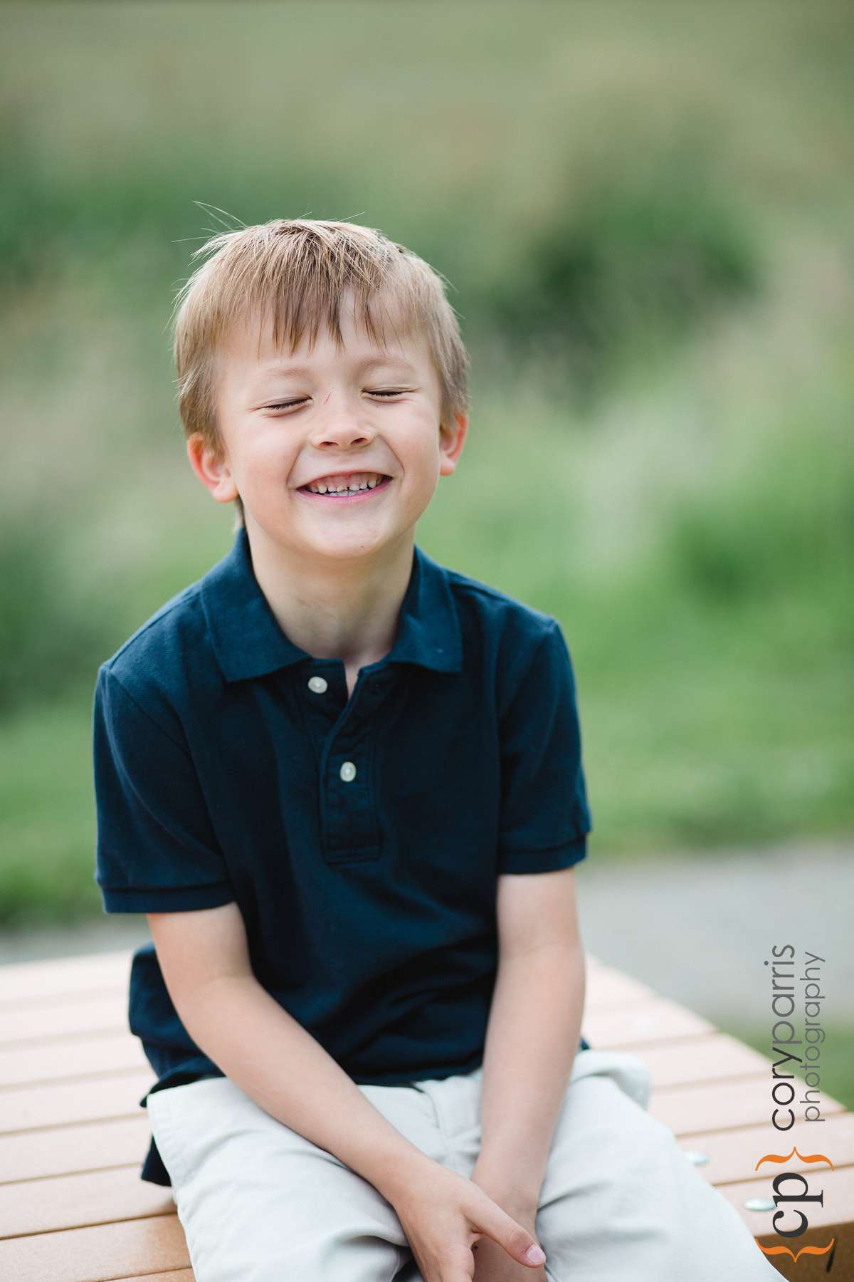 I love photos of kids laughing!