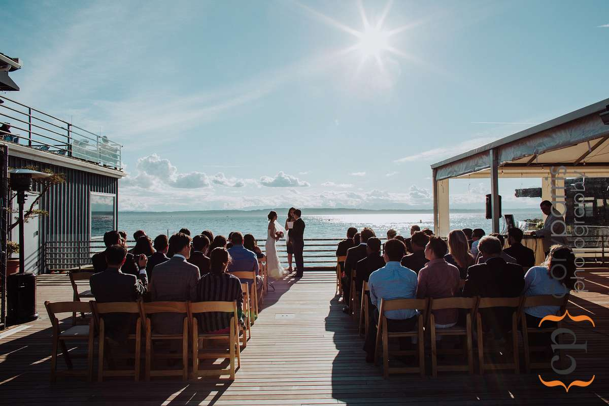 The beautiful deck to get married on at Ray's.