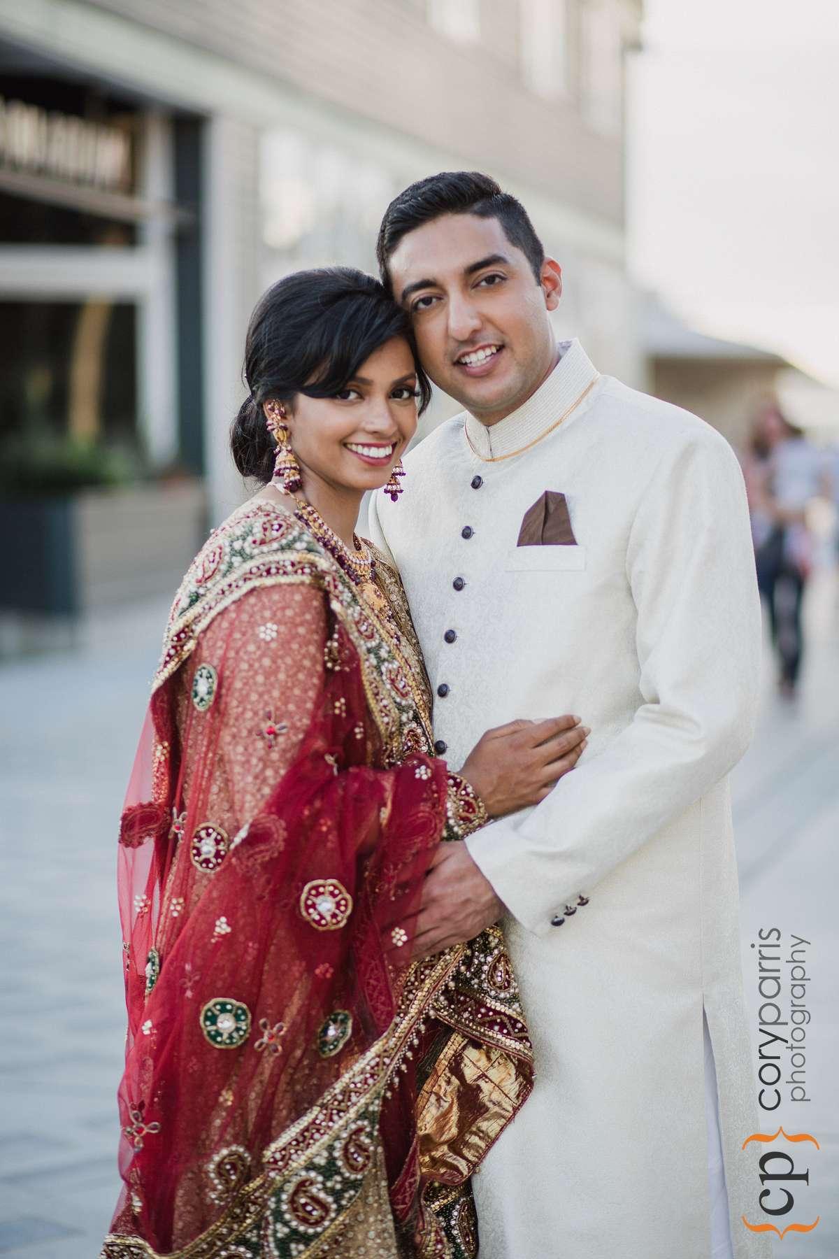 Indian couple Seattle portrait