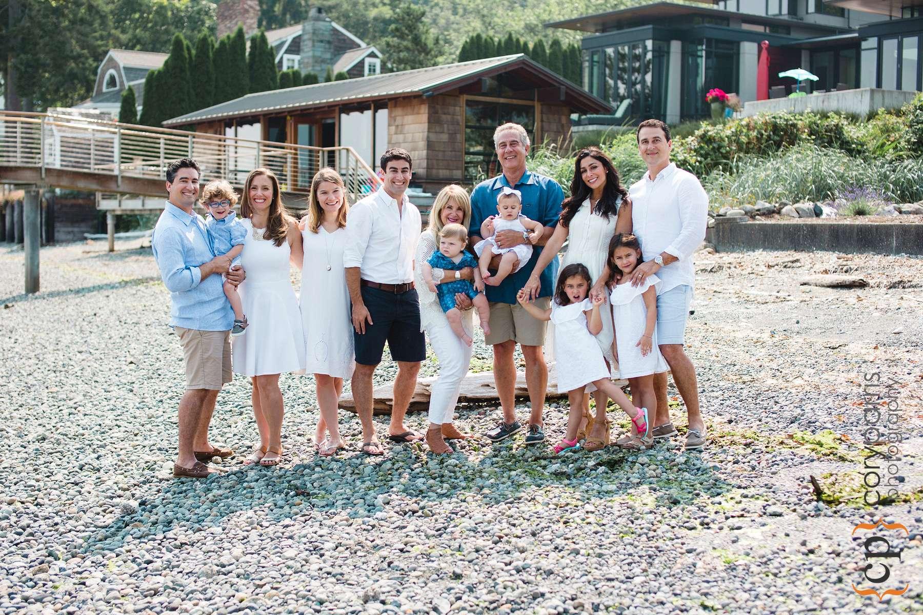 Family portraits on the beach
