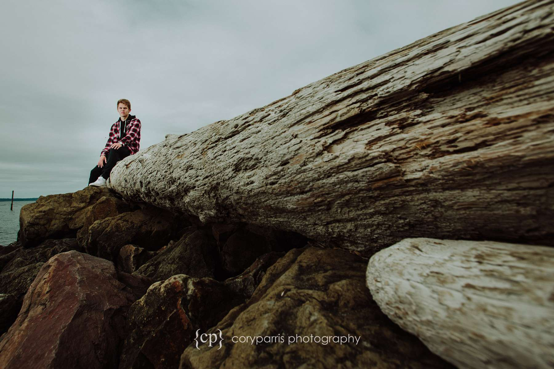Soren's senior portraits at Edmonds Marina Beach Park