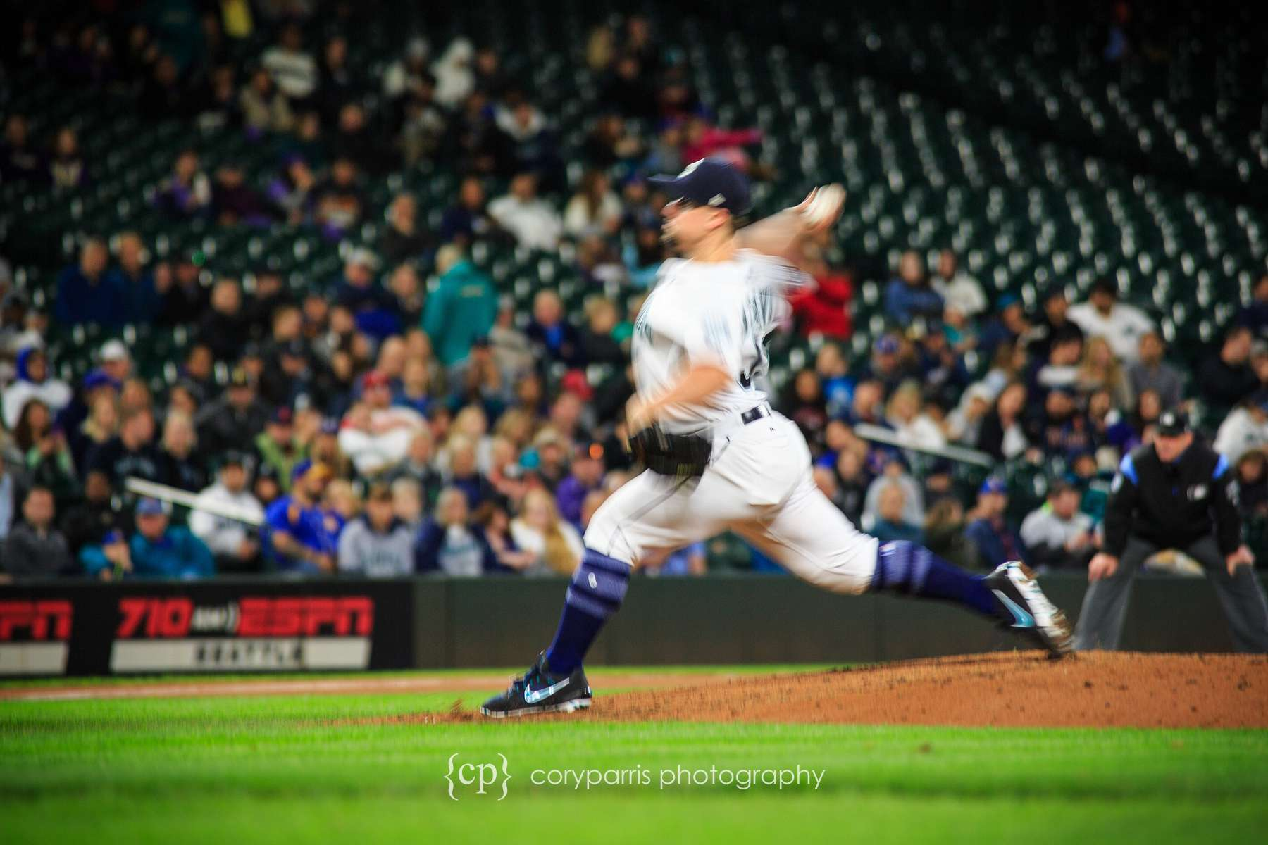 Slow shutter speed sports photography