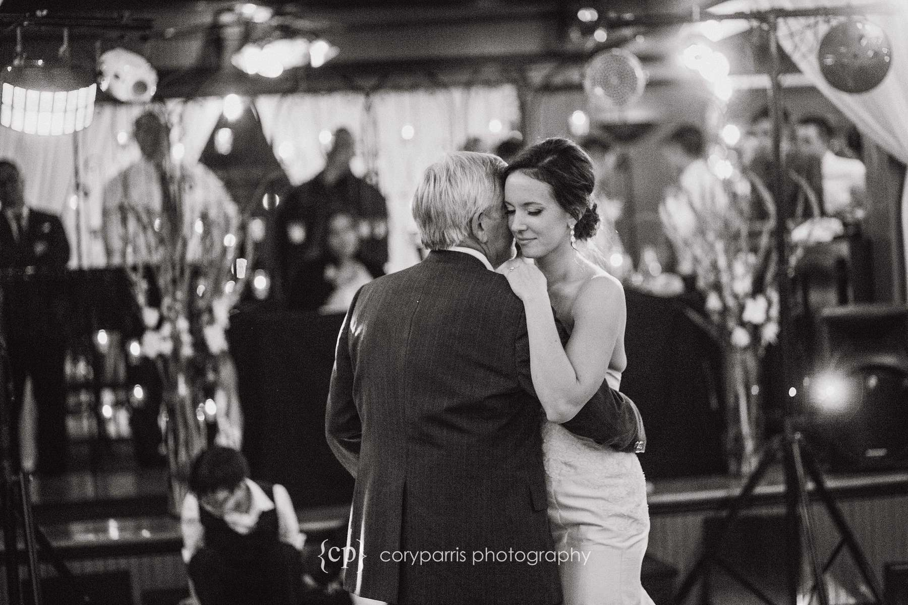 Angie dancing with her dad.