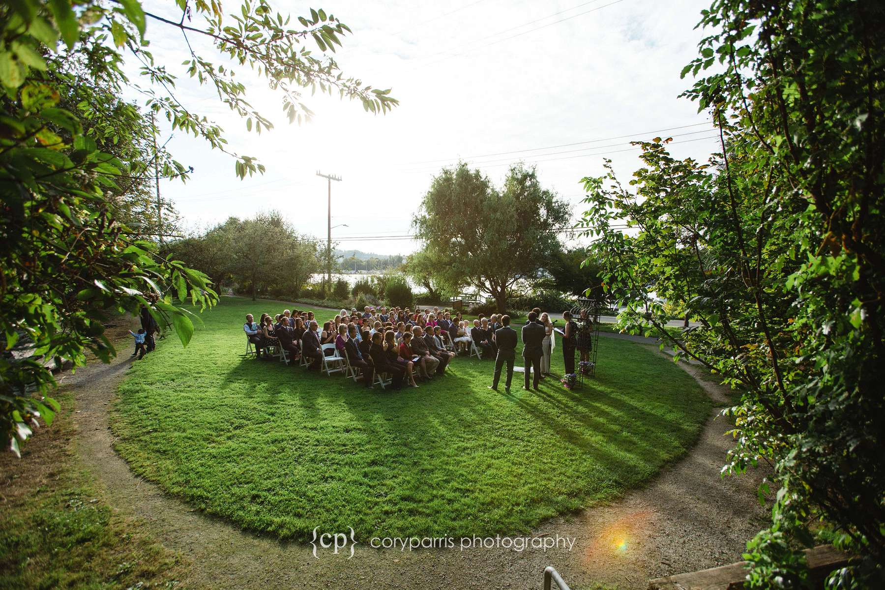 Fairview Park wedding ceremony in Seattle