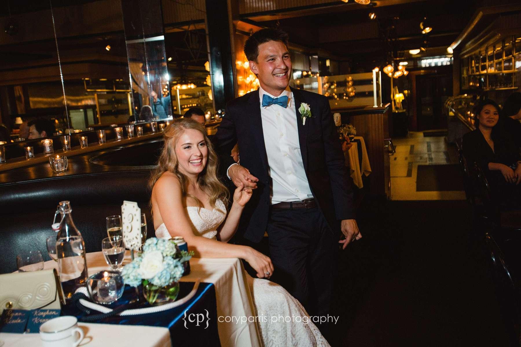 Wedding reception at Lake Union Cafe