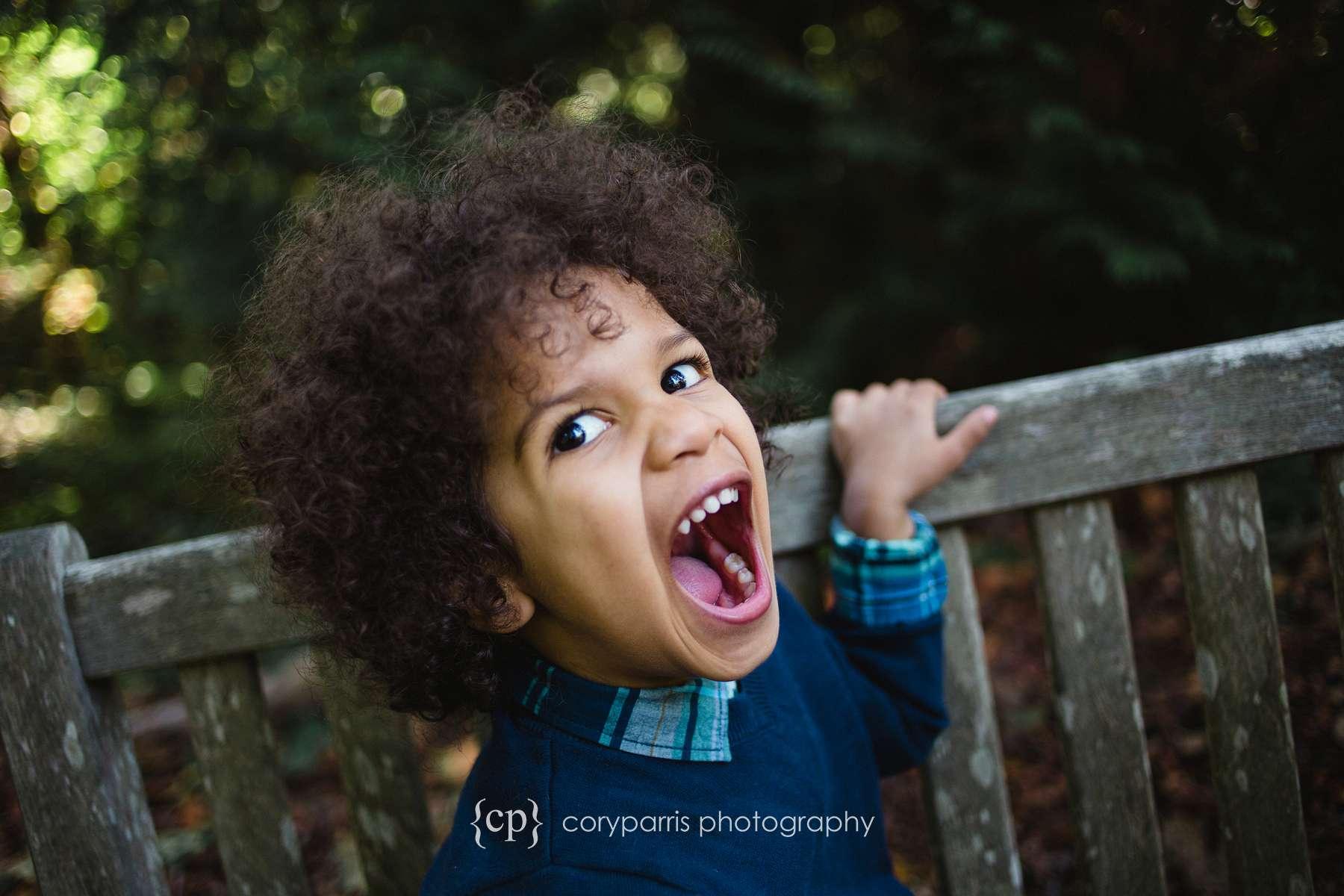 Funny kids portrait photographer