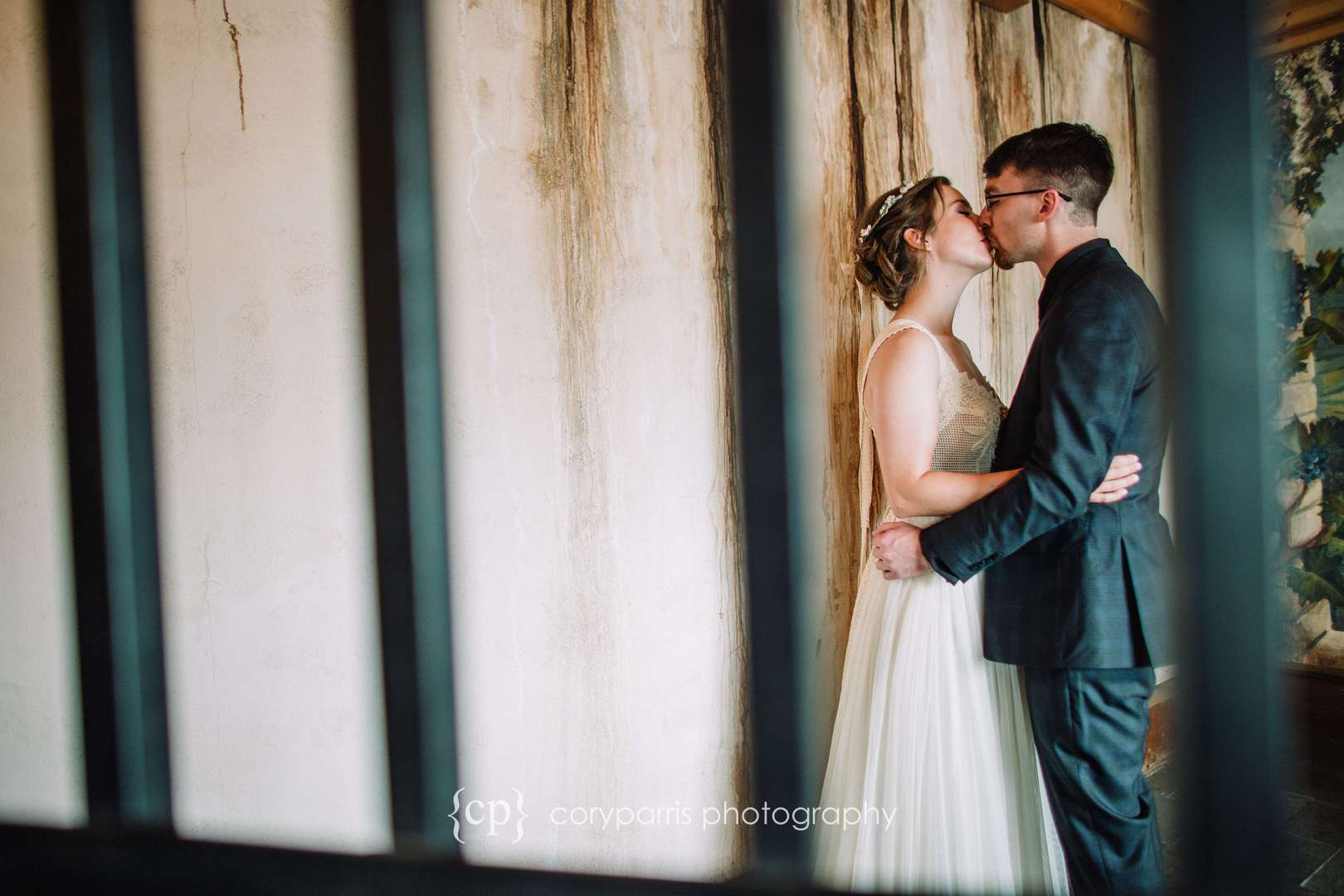 Wedding portrait photography at DeLille Cellars Chateau in Woodinville
