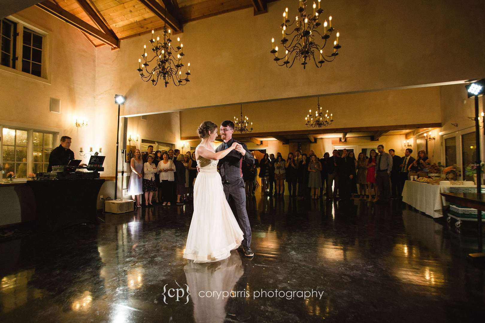 First dance at DeLille Cellars Chateau