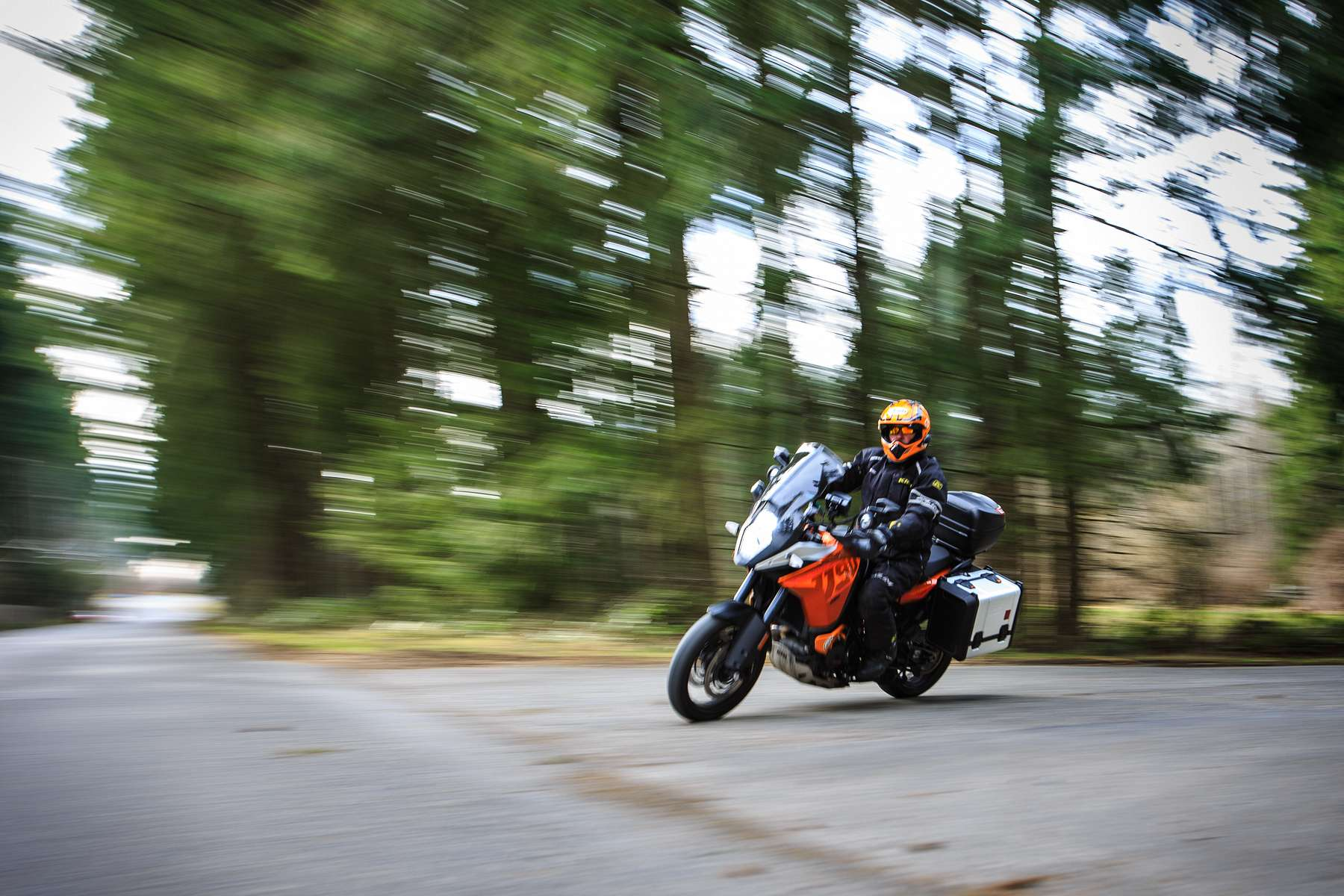 Action and portrait session of a motorcyclist for American Motorcyclist Association Magazine