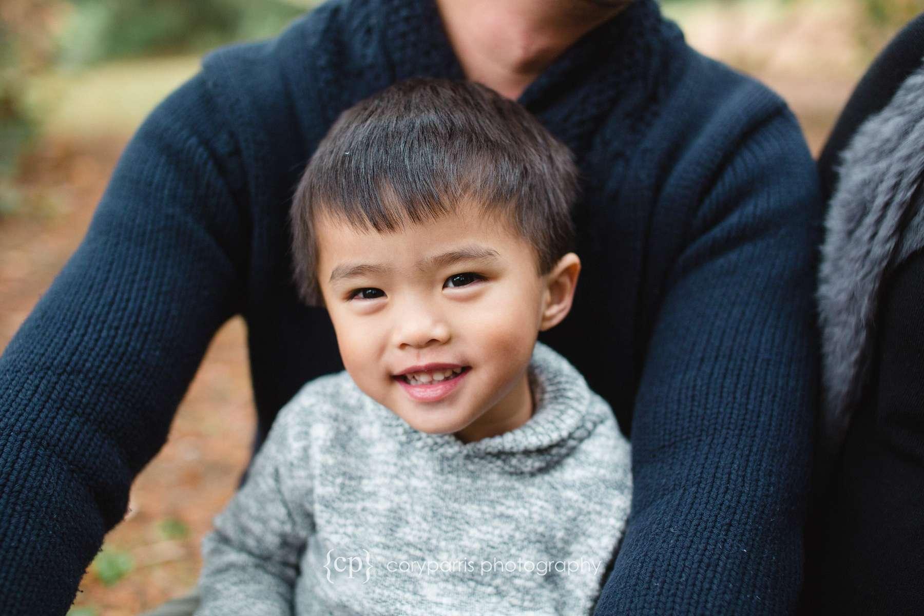 Family and child portraits at Washington Park Arboretum
