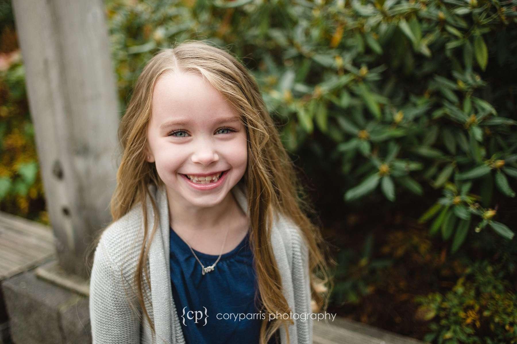 Smiling girl Kids portrait in Seattle