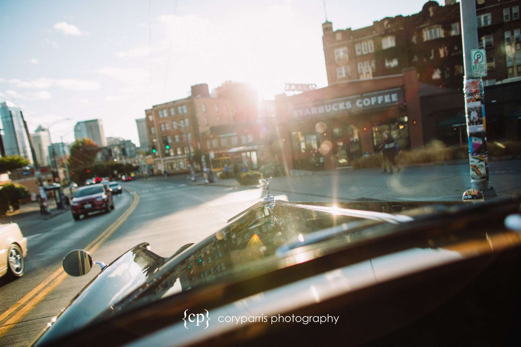 I just liked this image of the car driving through Capitol Hill in Seattle