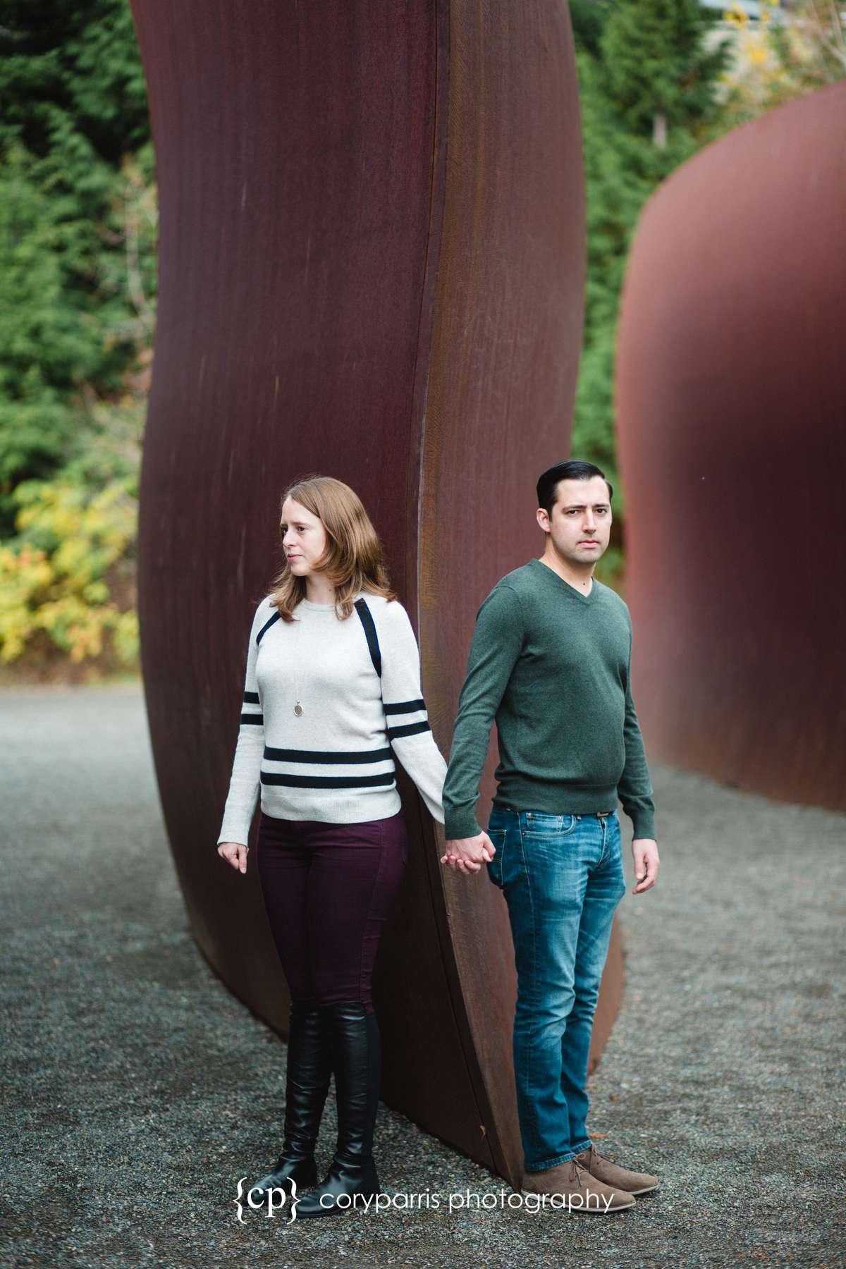 Olympic Sculpture Park Engagement Portrait