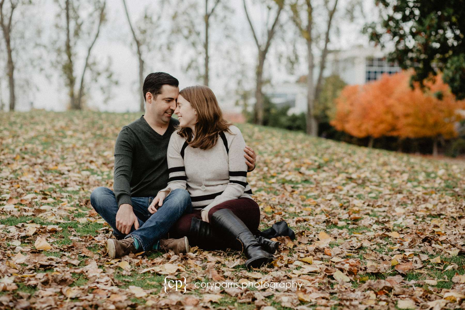 Cute couple engagement portraits in Seattle