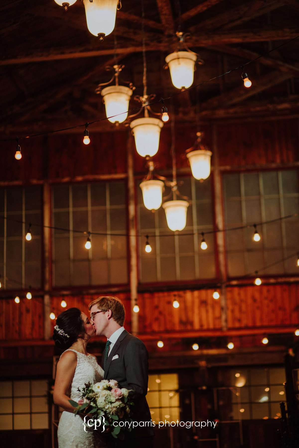 SODO Park is beautiful in the wedding portraits
