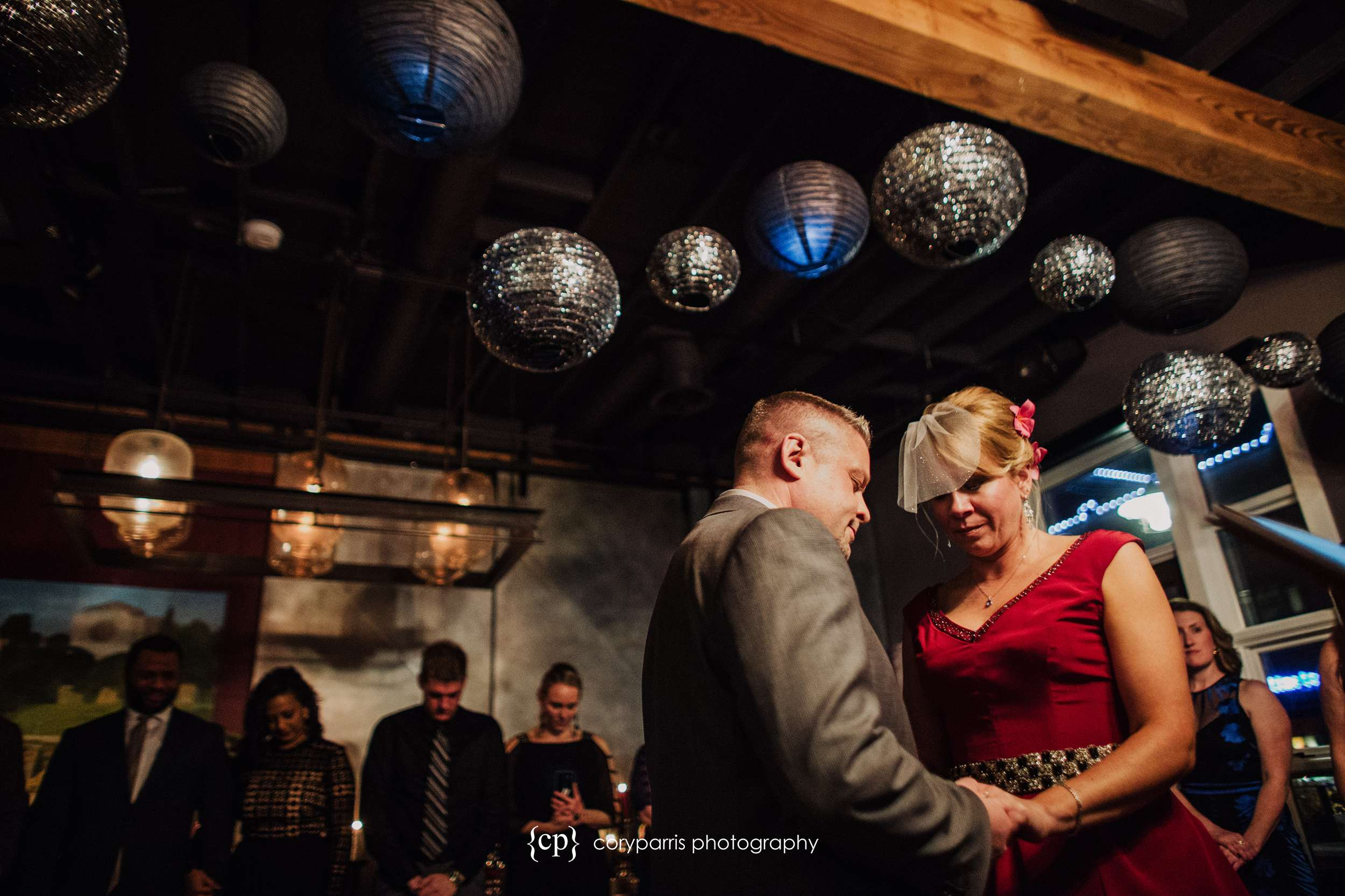 Tanea and Jeff's wedding at Beecher's Loft in Seattle over Pike Place Market.