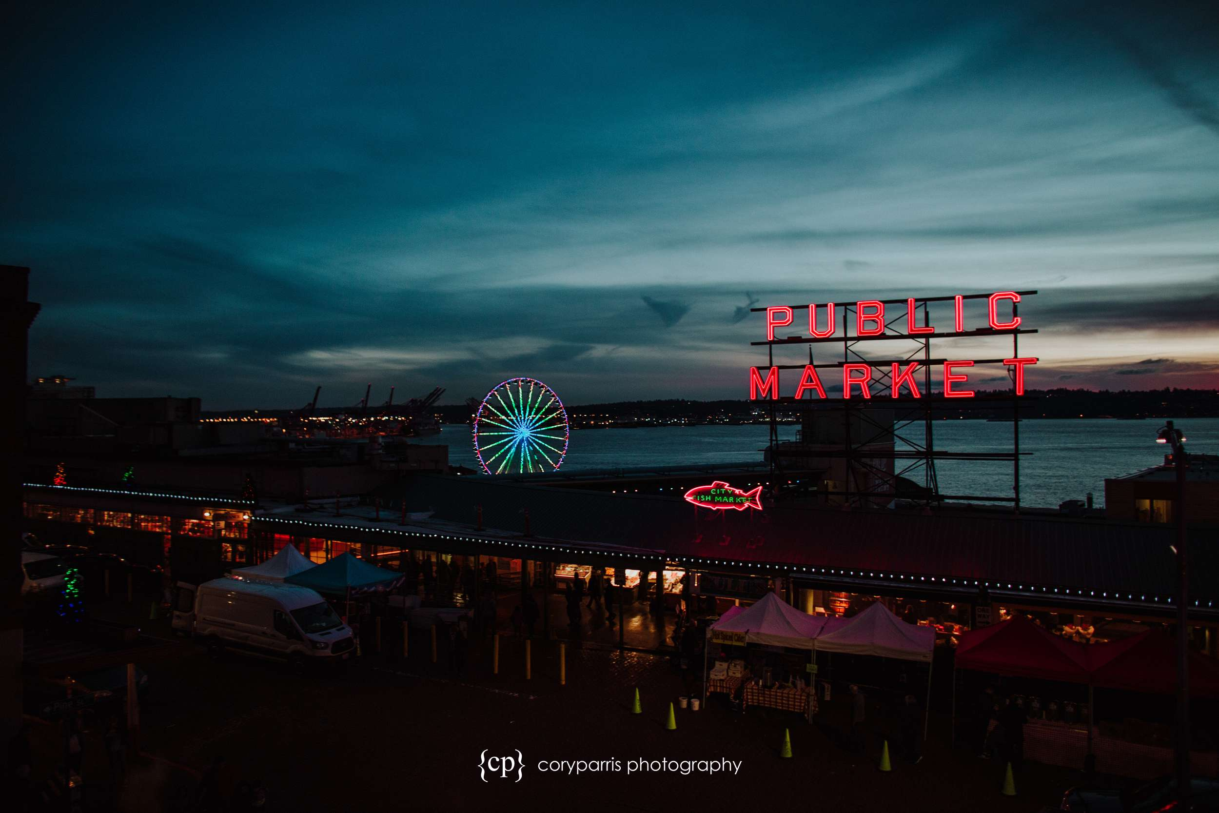 Pike Place Market at Sunset