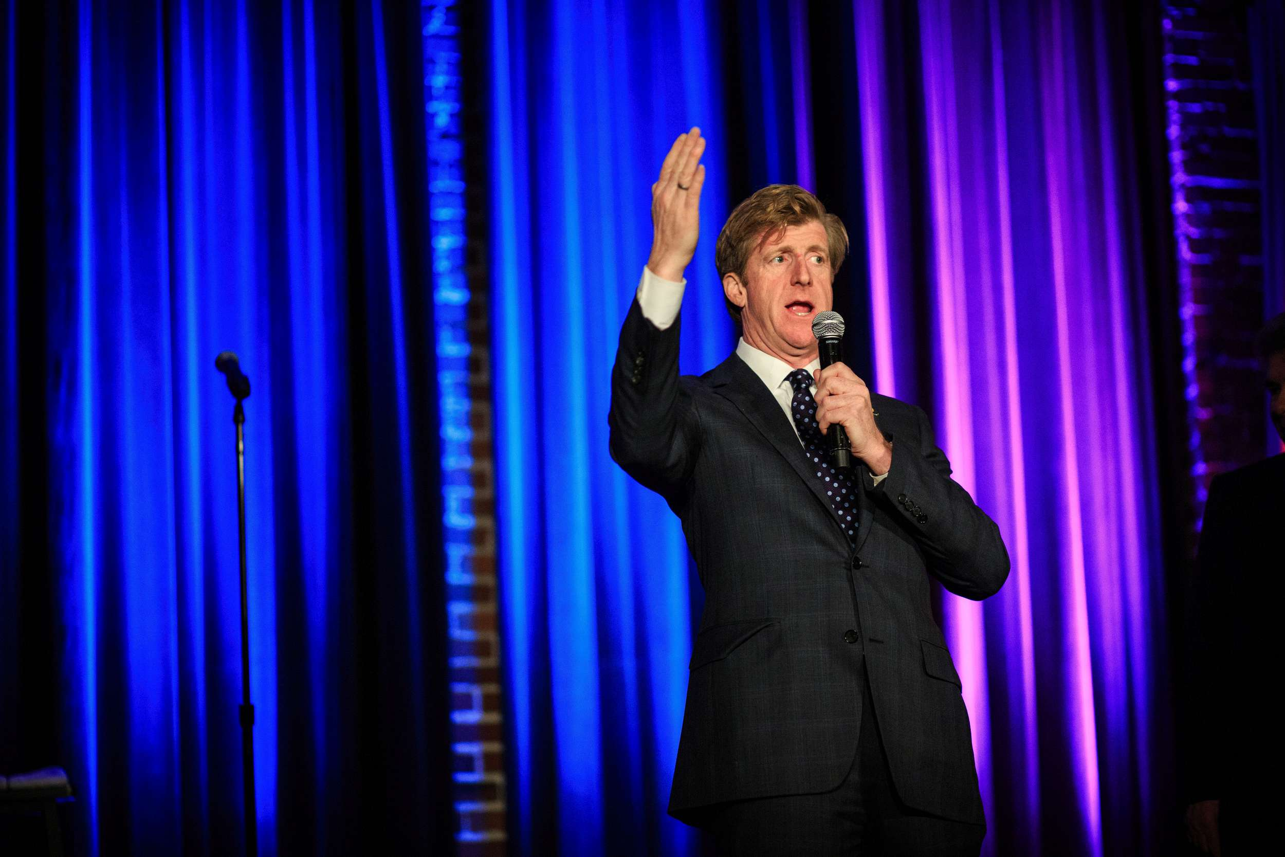 Patrick Kennedy speaking at a fundraiser in Seattle