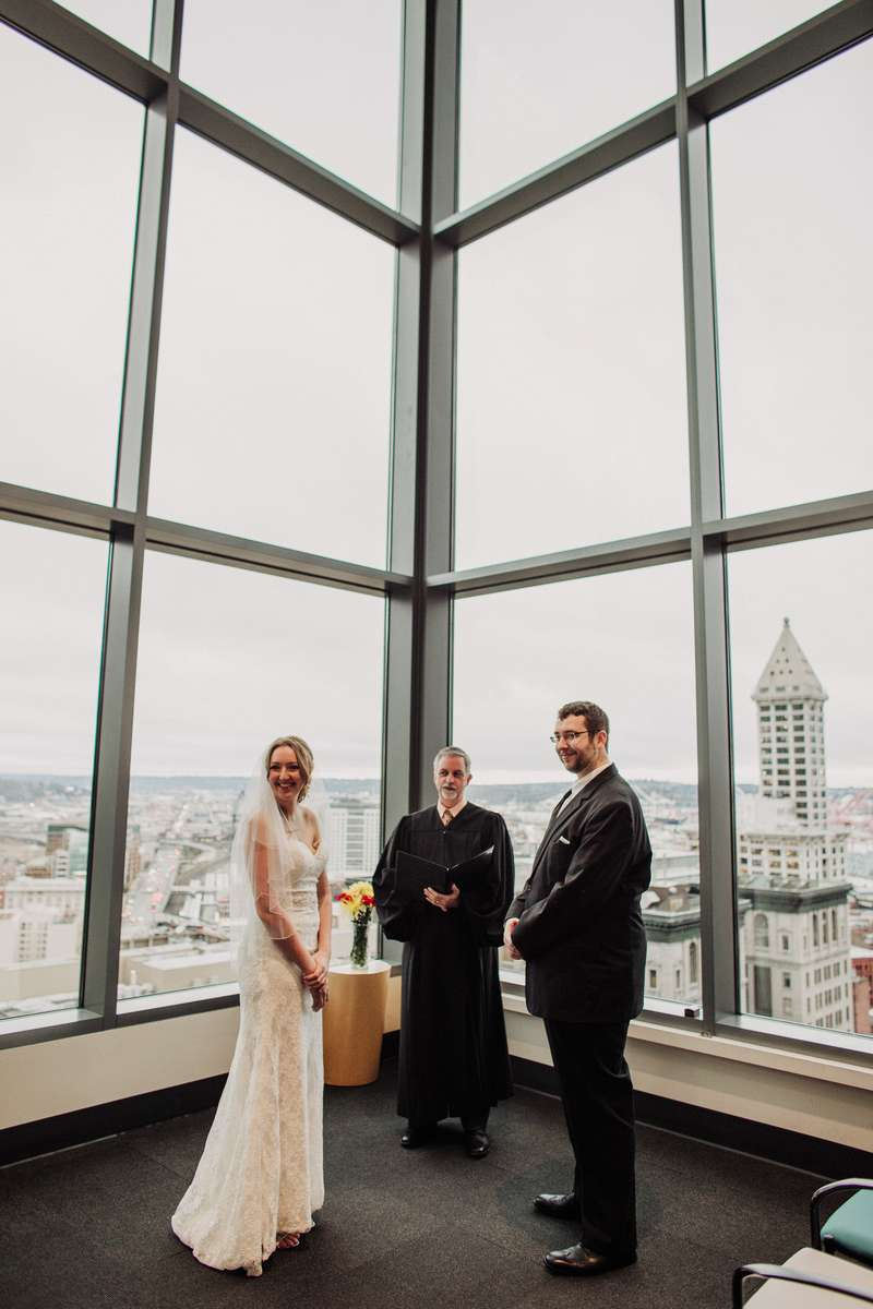 Wedding ceremony at the Seattle Courthouse.