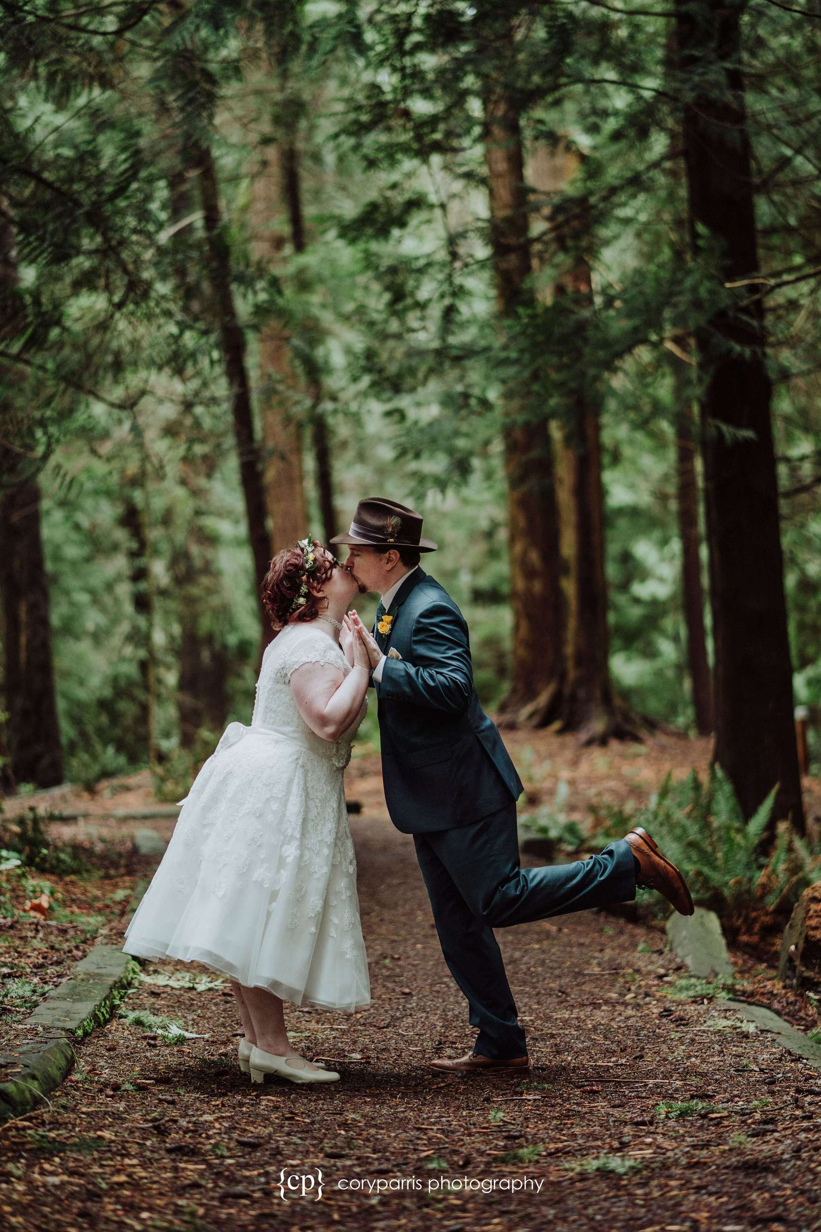 Funny wedding portrait by seattle wedding photographer