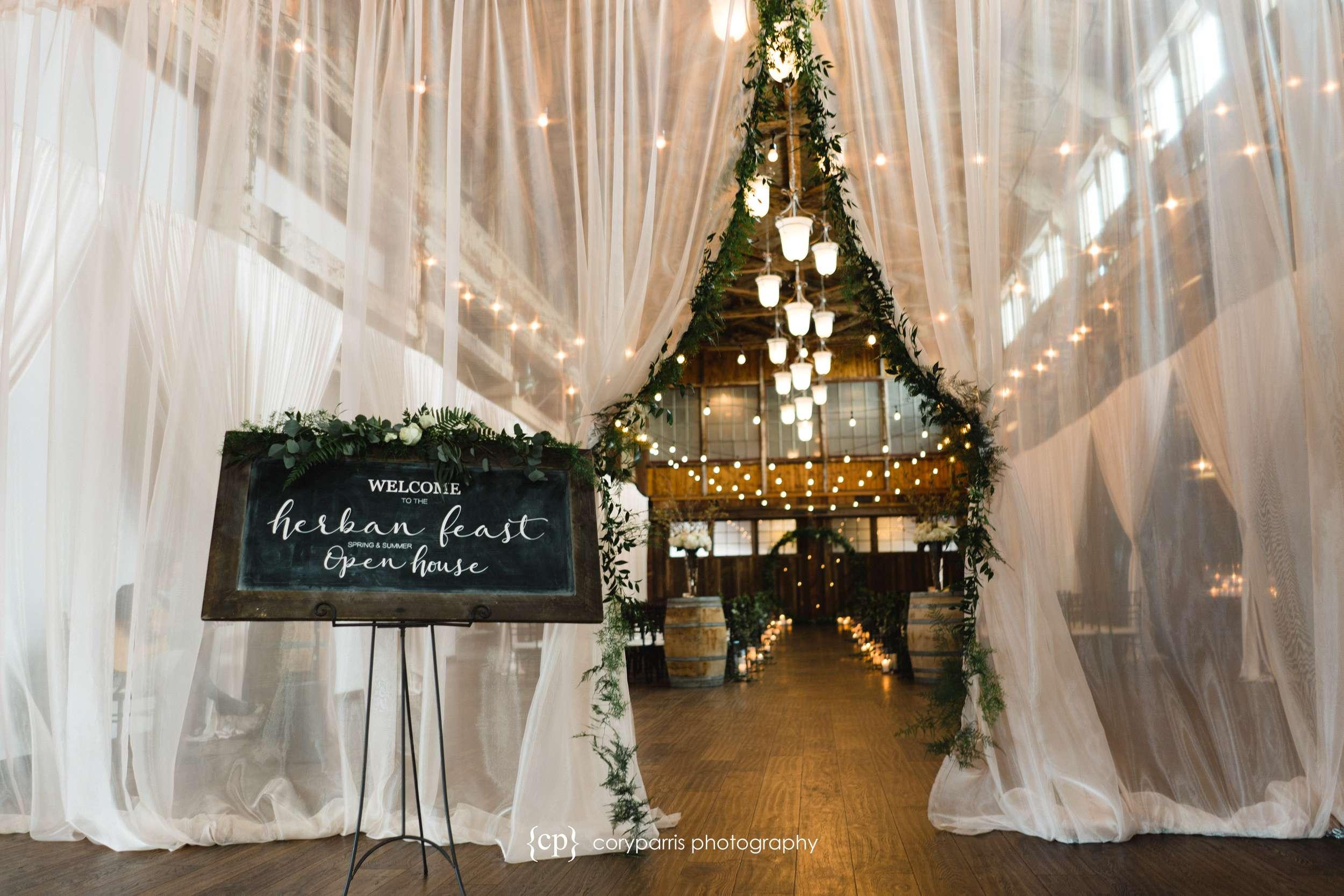 Entrance to the wedding setup at SODO Park