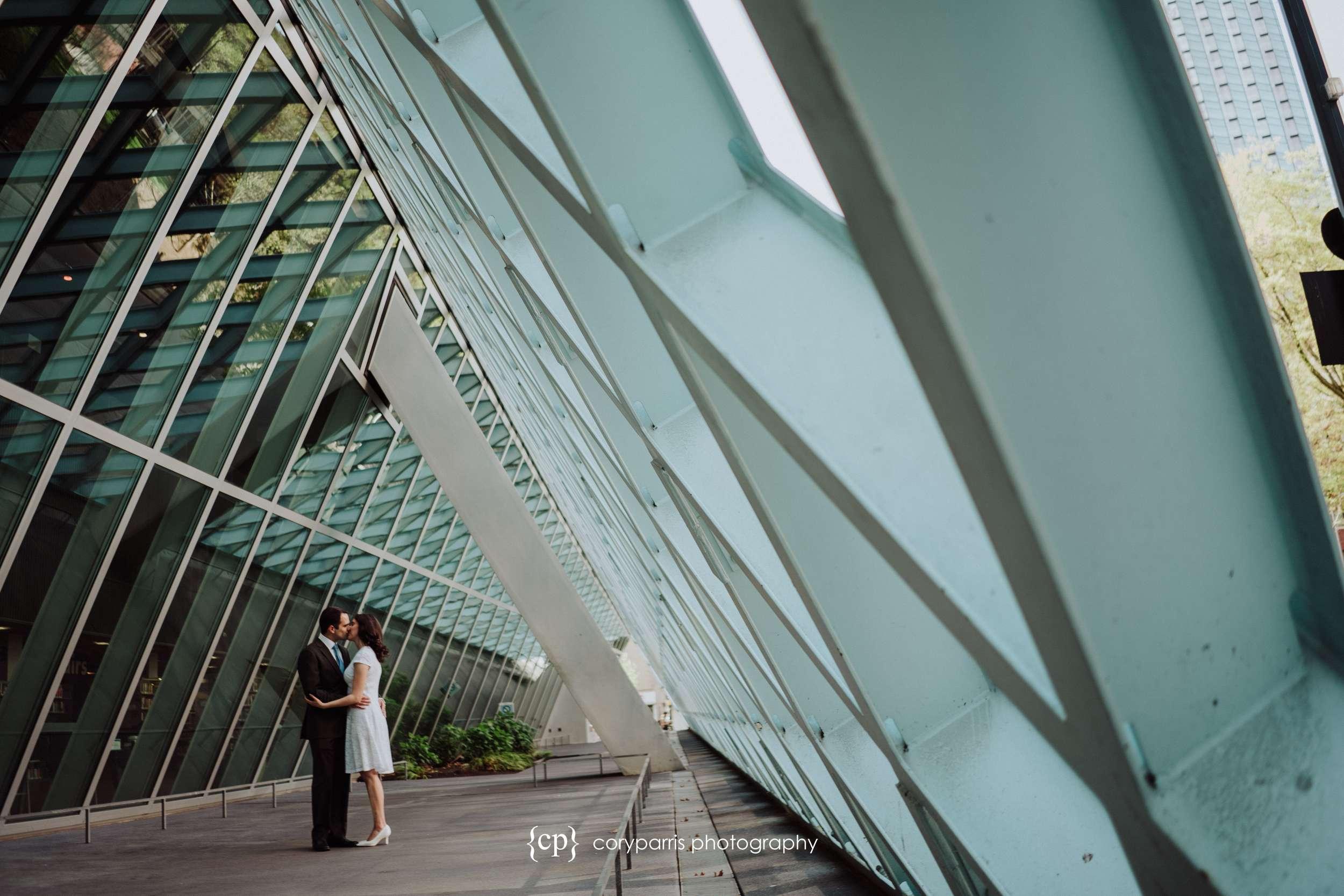 Seattle Public Library entrance