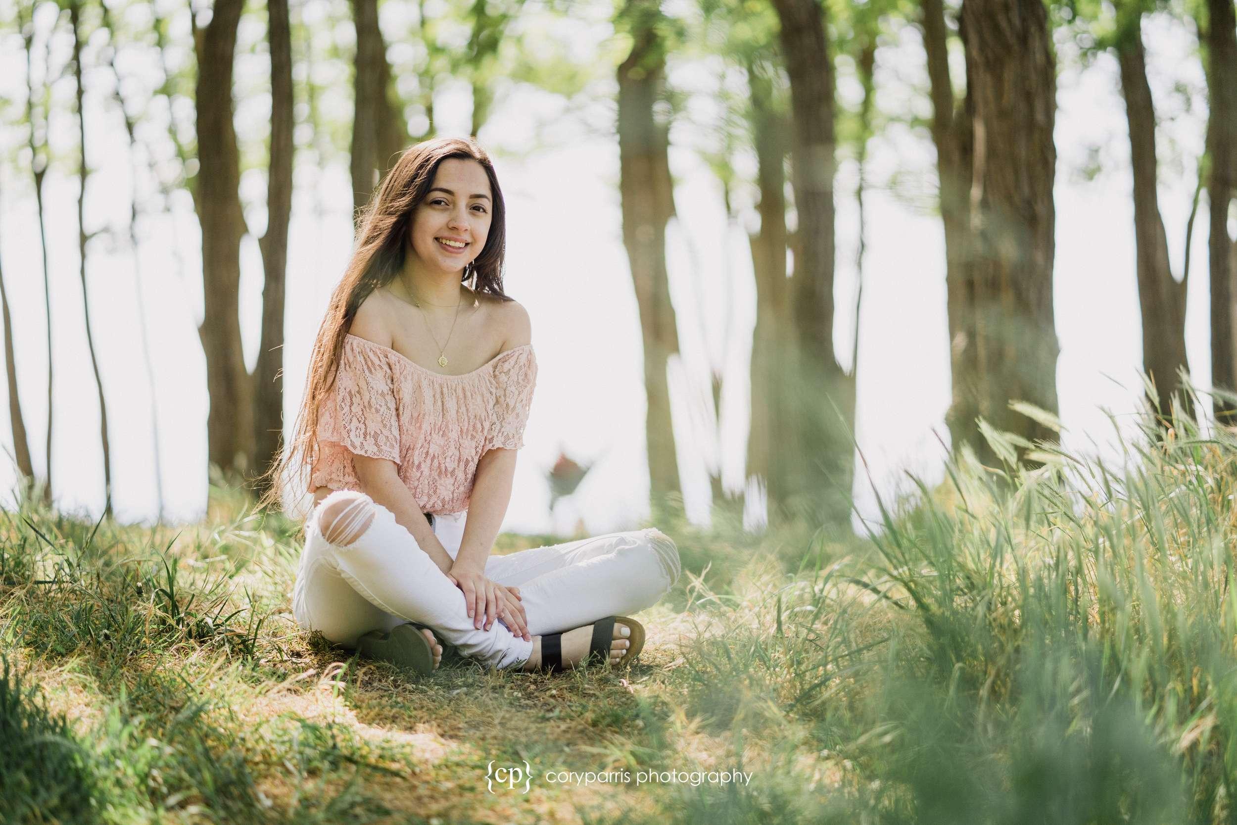 Alyssa's senior portraits at Golden Gardens in Seattle!