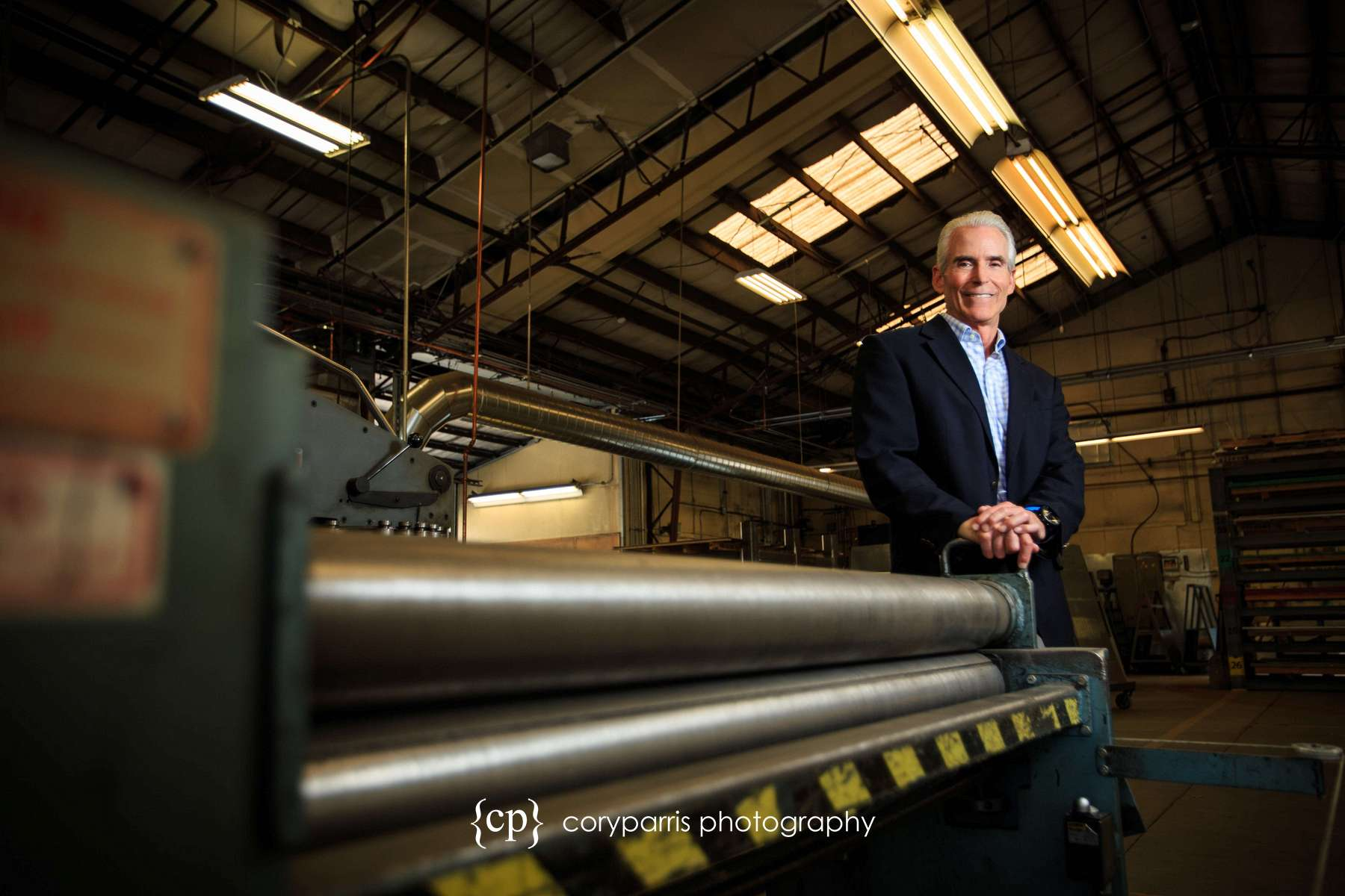 Executive Portrait of the CEO of PSF Mechanical taken in their shop.