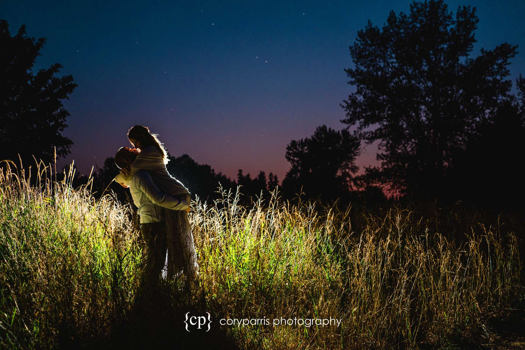 Klaudia and Justin's engagement portraits at Marrymoor Park in Redmond.