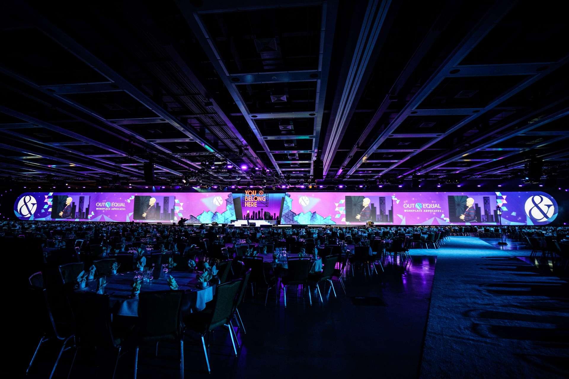 Convention setup photography