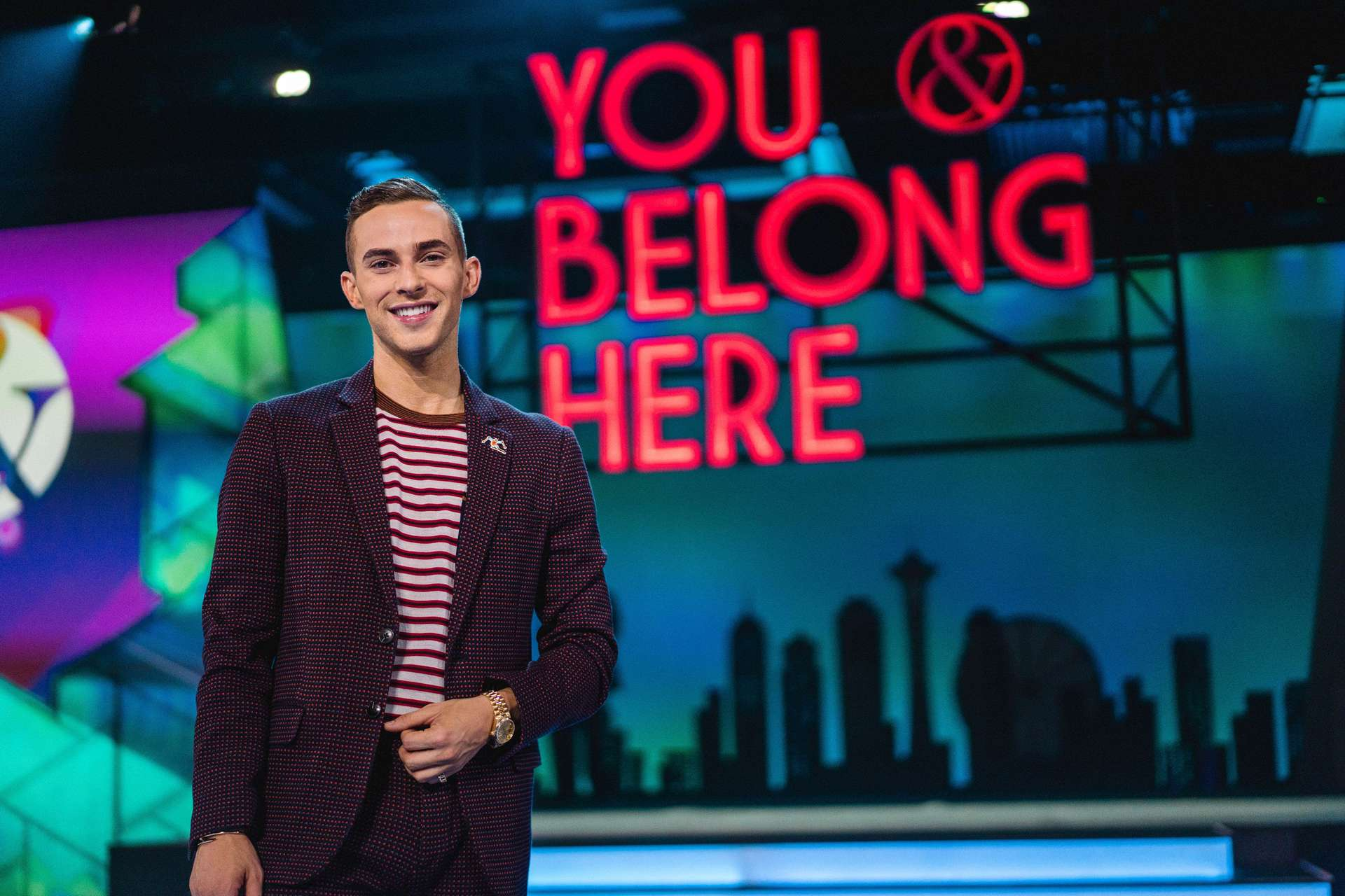 Adam Rippon, Olympic Athlete and celebrity, portrait before his convention speaking appearance.