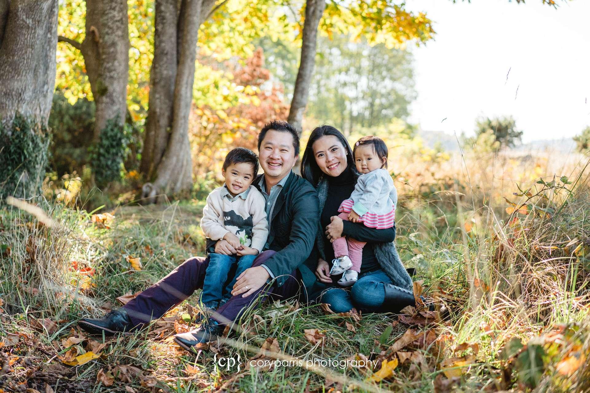 Family portraits at Golden Gardens!