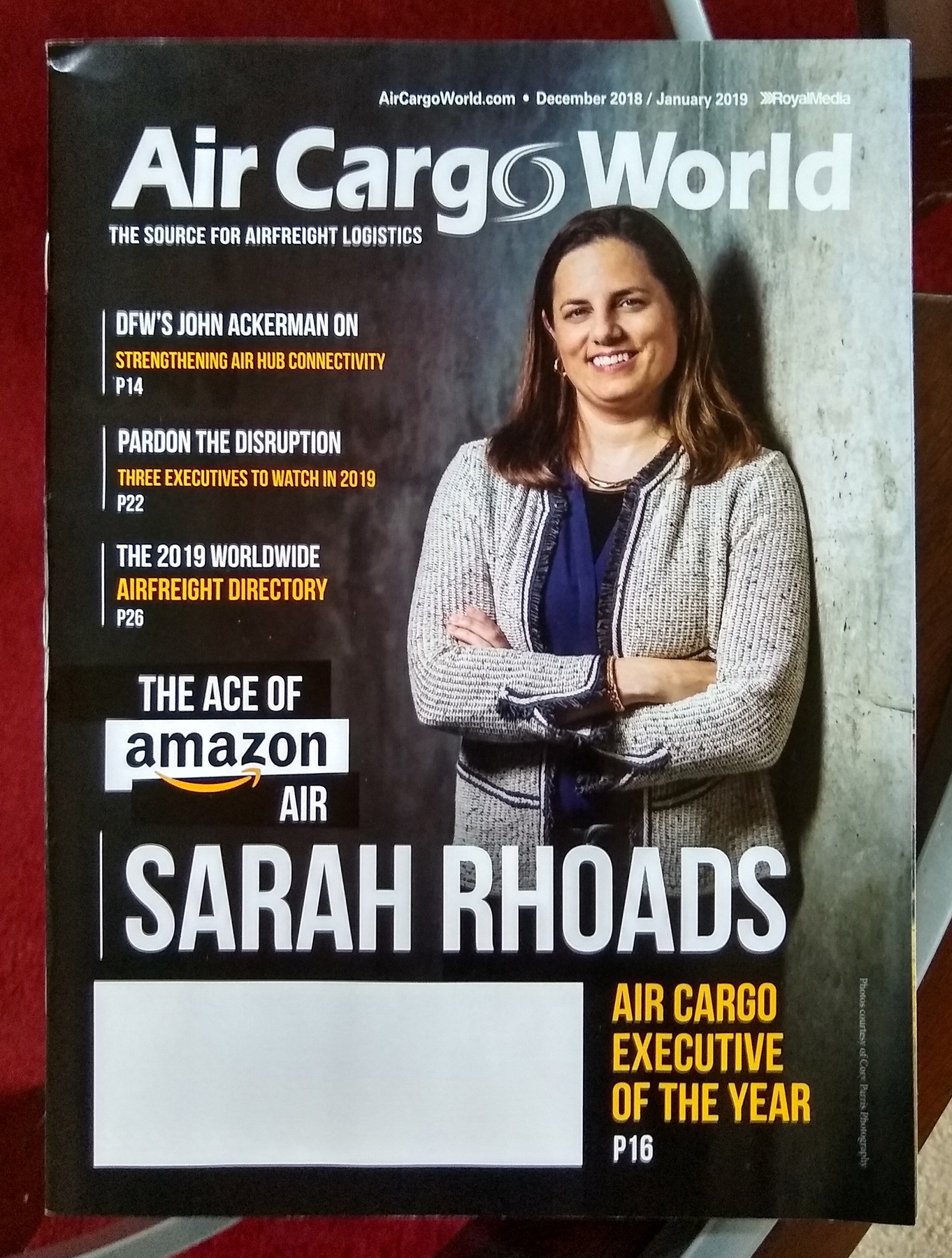 Photographs of Amazon's Sarah Rhoads for Air Cargo World Magazine.