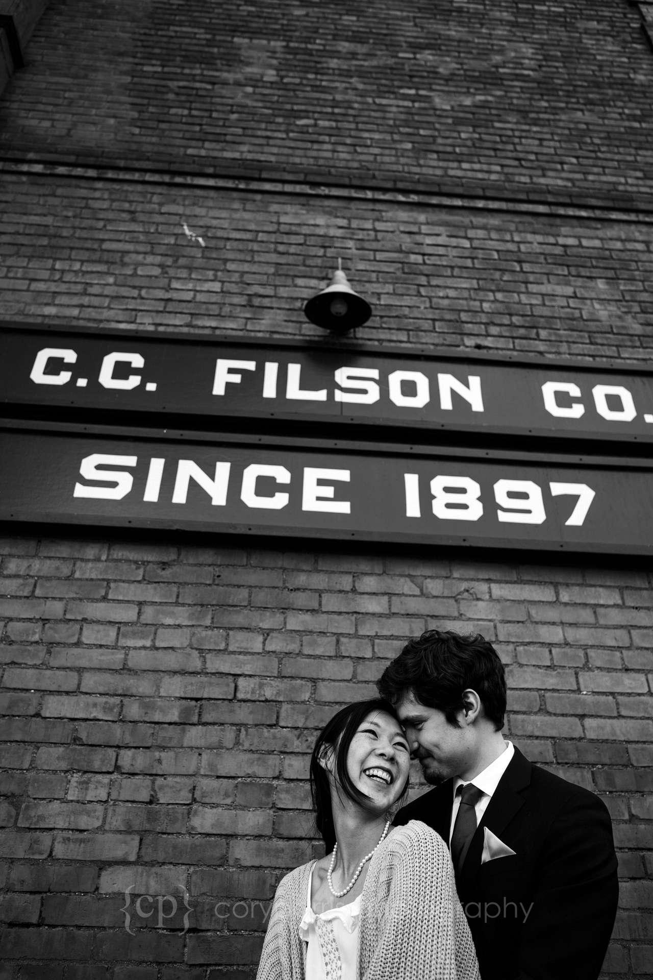 Irena & Logan in Ballard after their wedding!