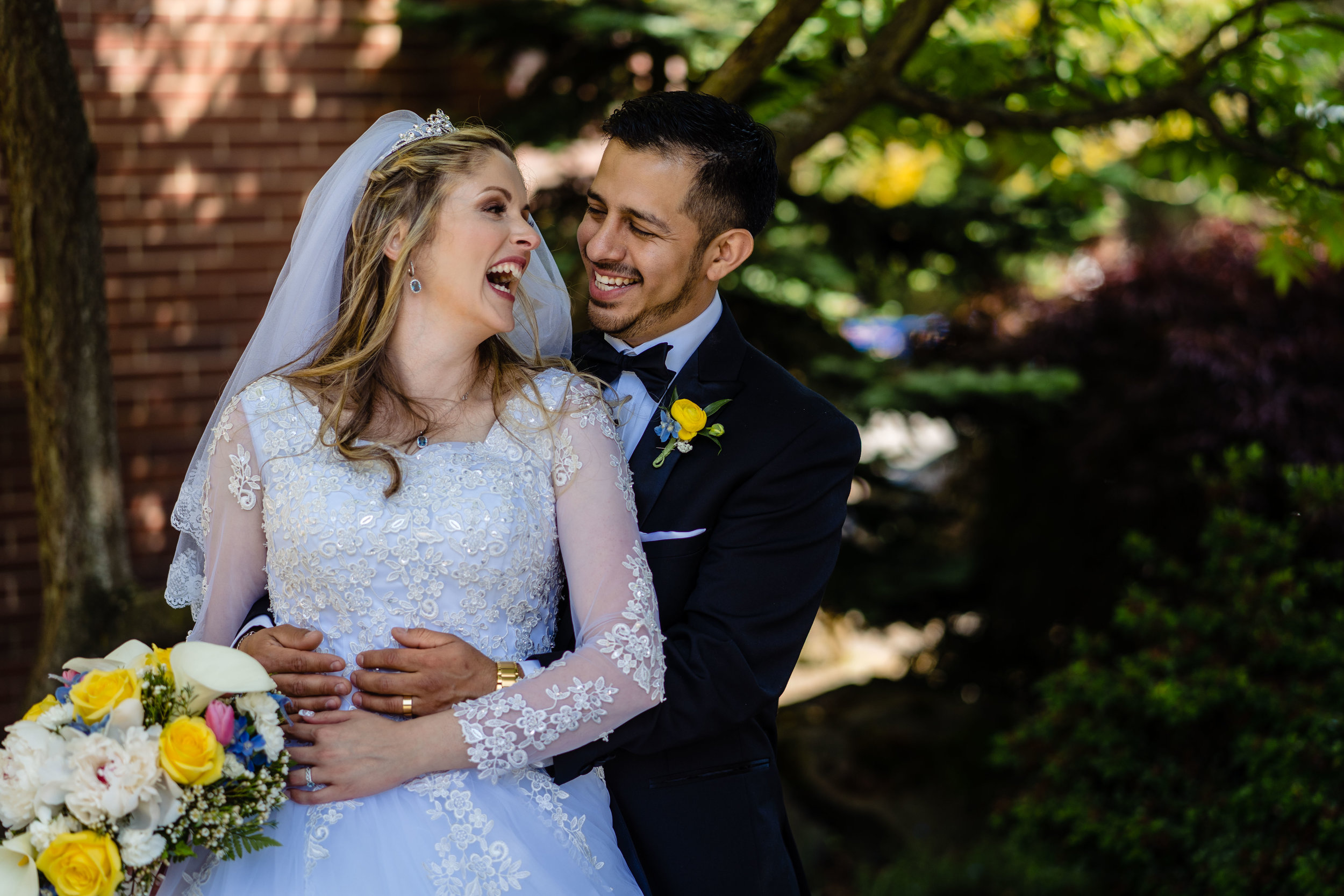 Christina & Saul laugh a lot together. I love this image of them after their wedding.
