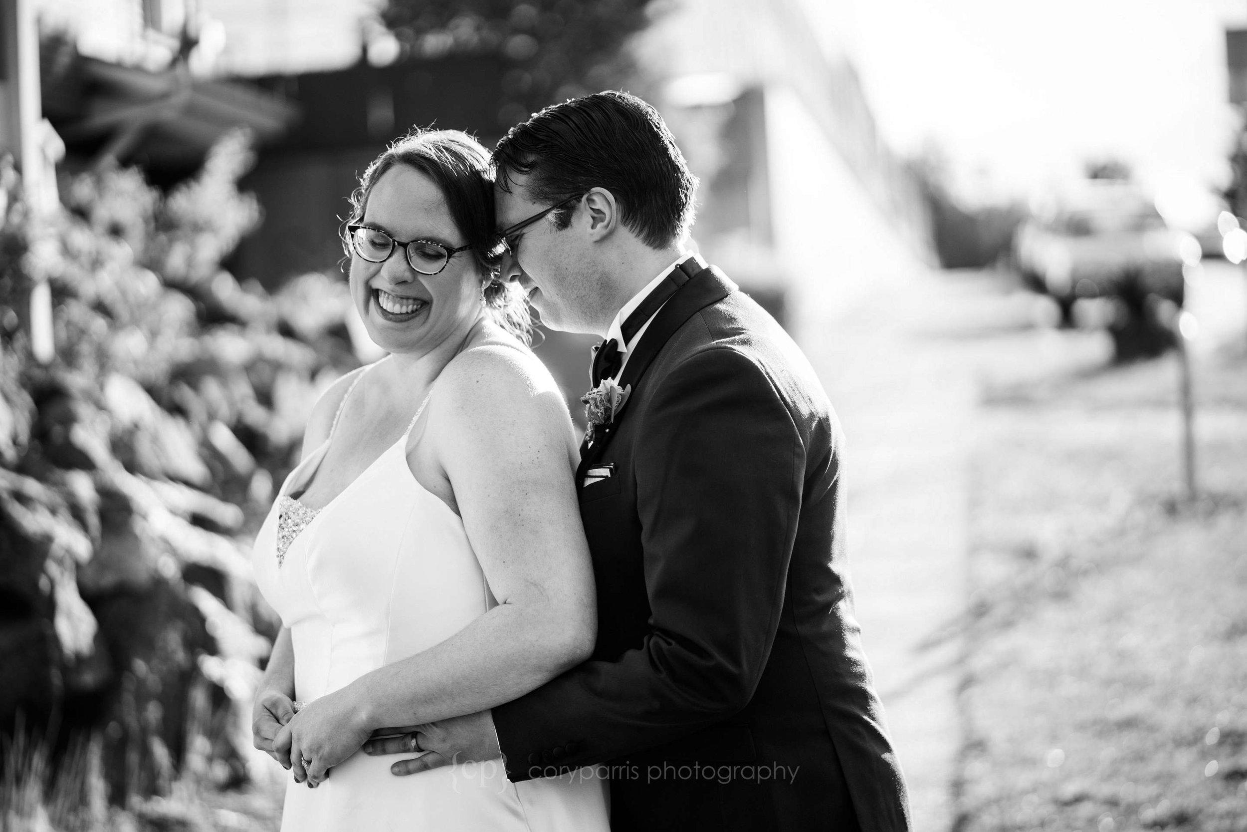 Maria-Lynn and Sean on their wedding day in Seattle.