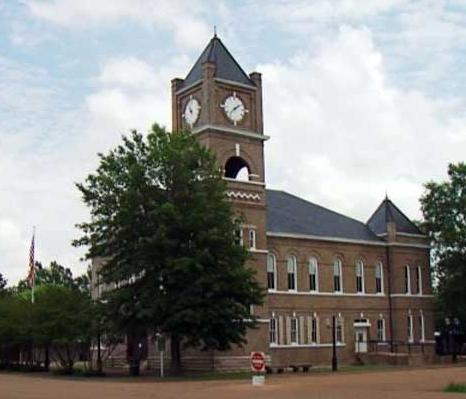 Sumner Courthouse, photo by Walt Grayson, WLBT-TV, Jackson