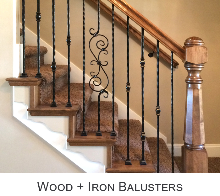 Wood and Iron Baluster Combos
