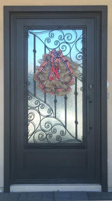 Ornamental wrought iron framed panel.jpg